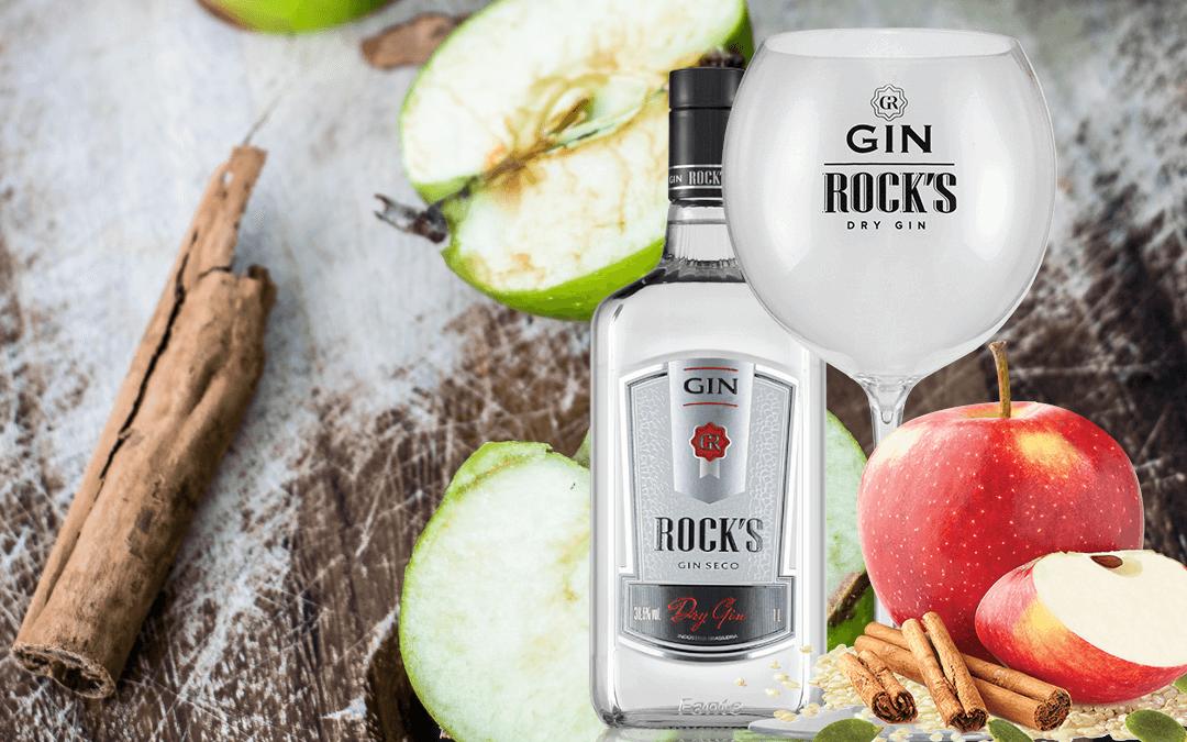 Gin Rock's com botânico Apple Sin - Gin Brasil